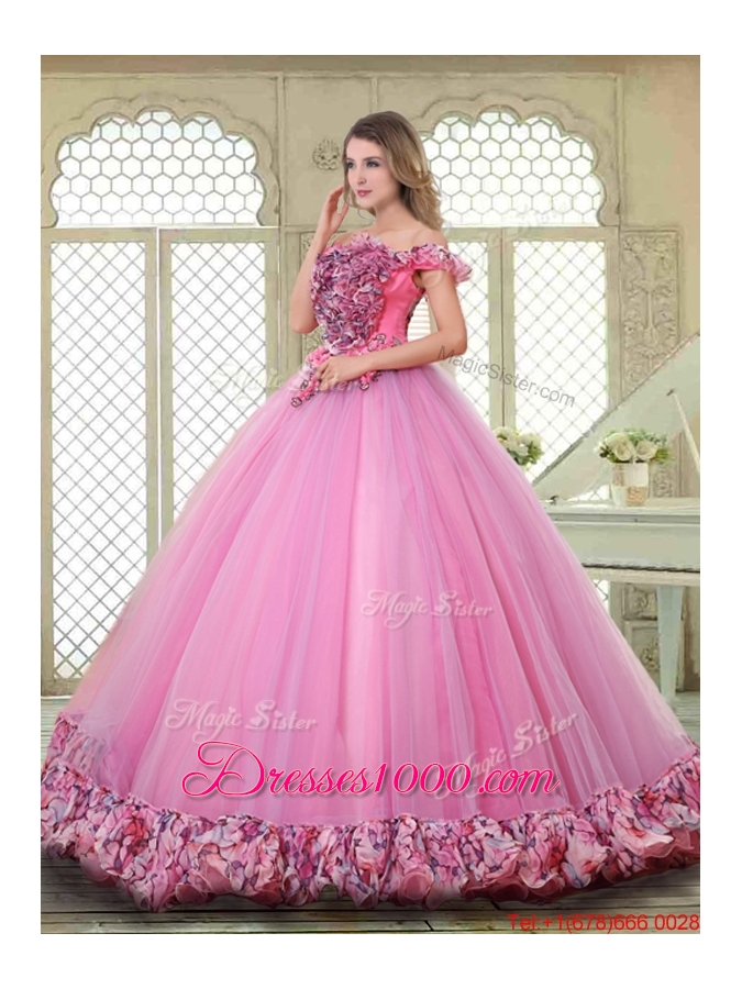 New Style Off the Shoulder Quinceanera Gowns in Multi Color