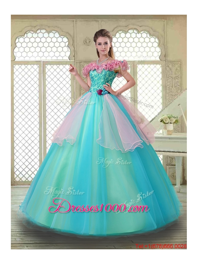 Perfect Off the Shoulder Quinceanera Dresses in Multi Color