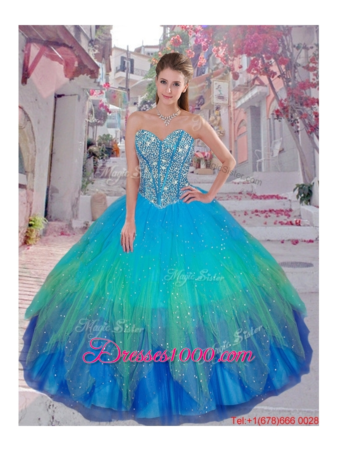 2015 Winter Classical Beaded Ball Gown Macthing Sister Dresses with Sweetheart