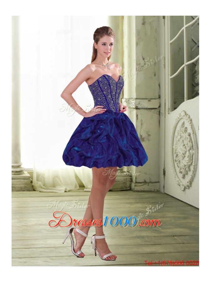 Detachable Beading and Ruffles Sweetheart Prom Skirts for 2015