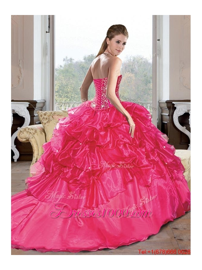 Designer Sweetheart Beading and Ruffles Turquoise Quinceanera Dresses for 2015 Spring