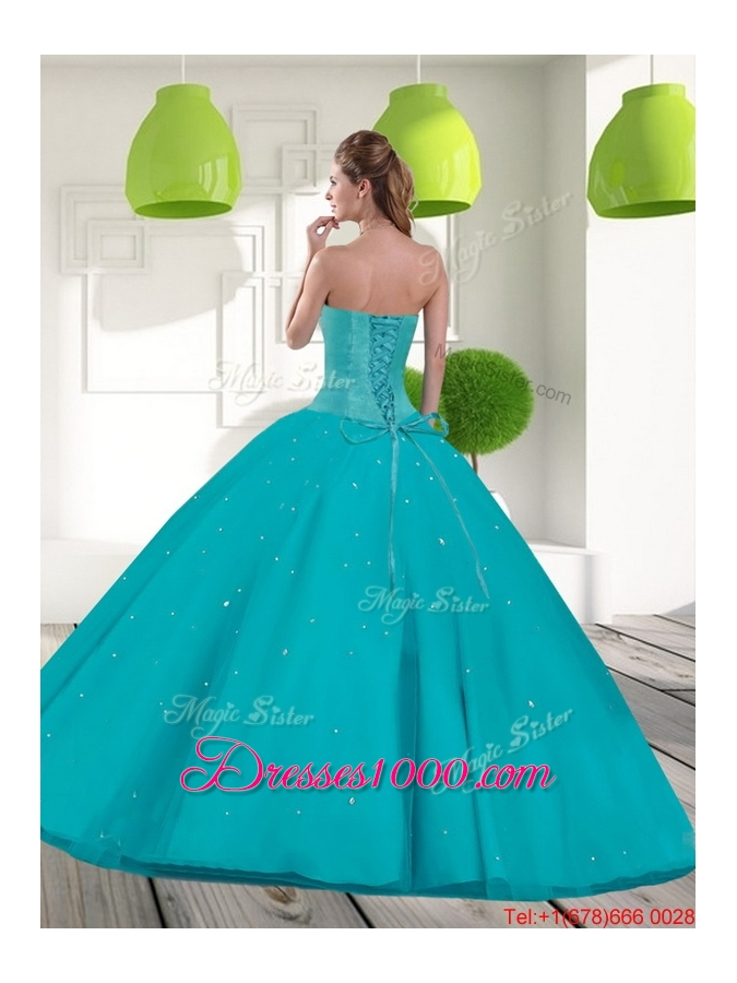 Suitable Sweetheart 2015 Quinceanera Dress with Beading and Appliques
