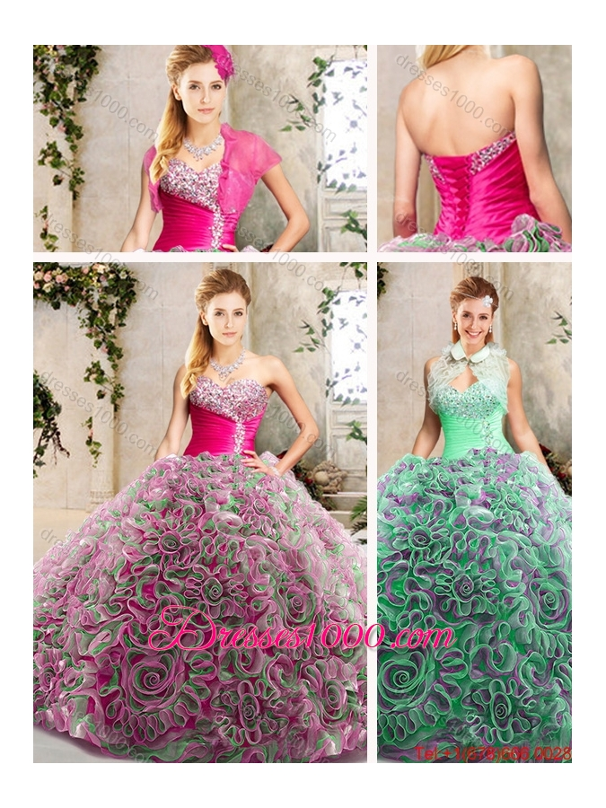 Luxurious Sweetheart Quinceanera Gowns with Brush Train