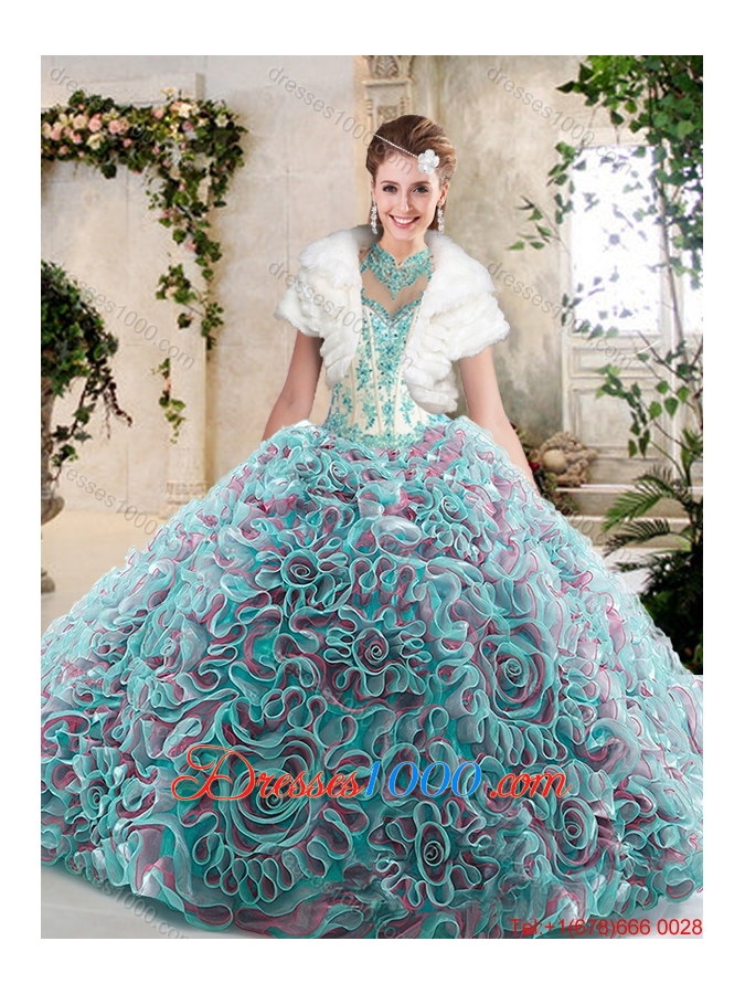 New Arrivals Halter Top Quinceanera Dresses with Appliques