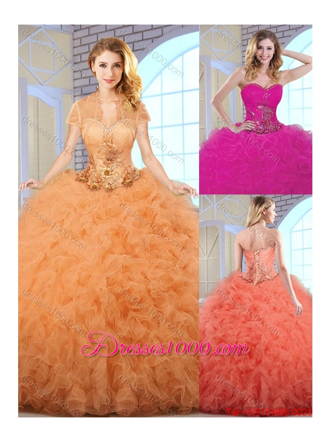 Elegant Ball Gown Sweetheart Quinceanera Dresses with Ruffles