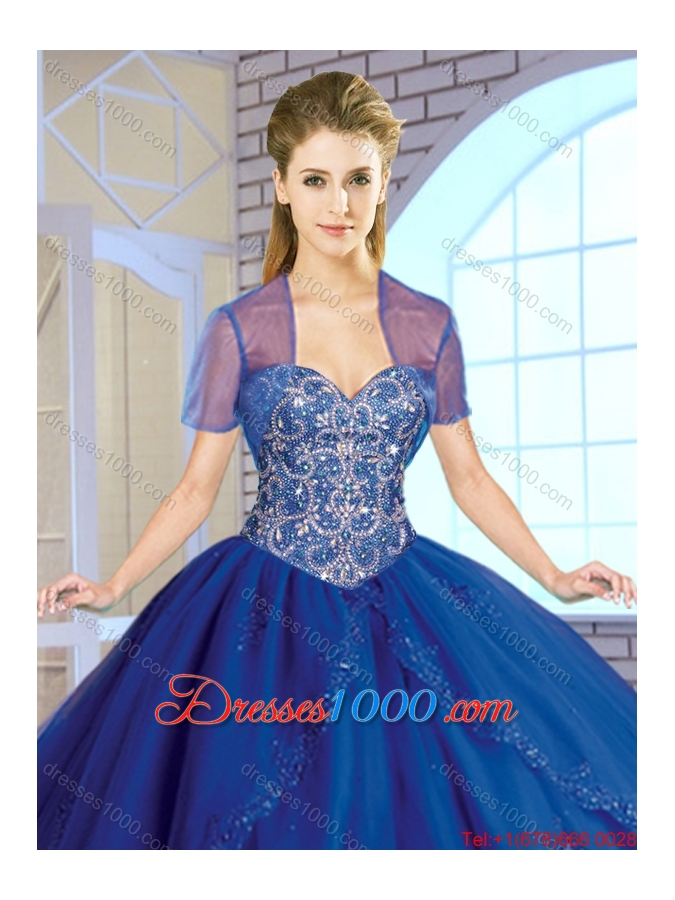 2016 Spring Exclusive Red Sweetheart Sweet 16 Dresses with Beading and Appliques
