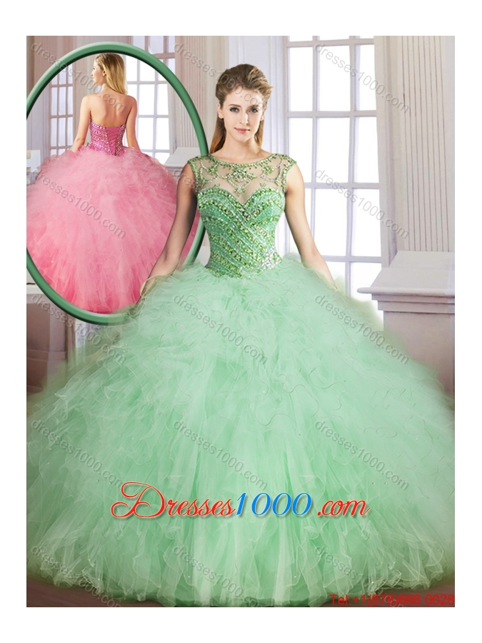 Classical Sweetheart Quinceanera Gowns with Beading and Ruffles