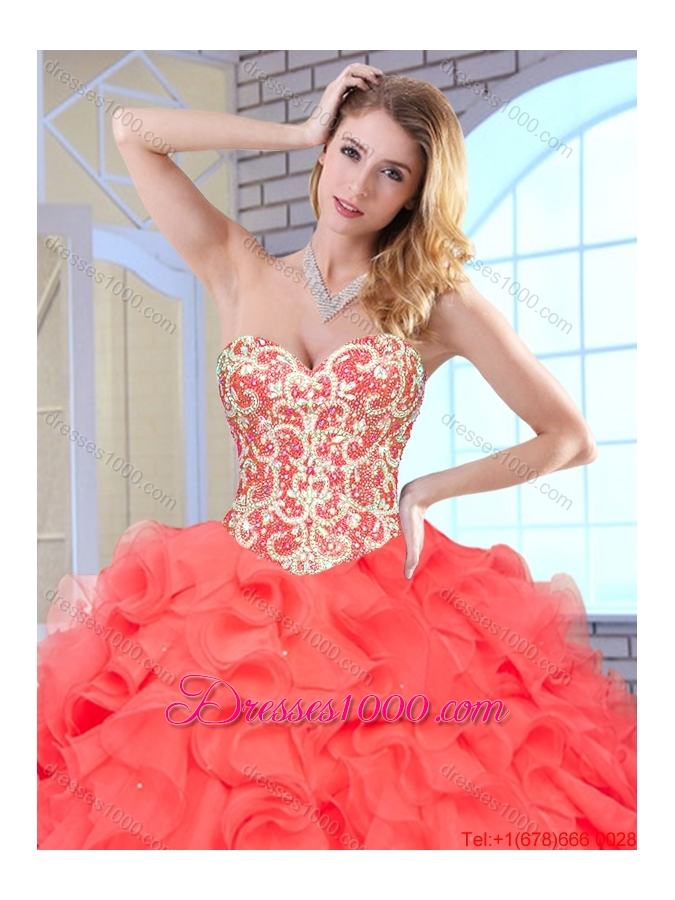 New Arrivals Ball Gown Quinceanera Dresses with Beading and Ruffles