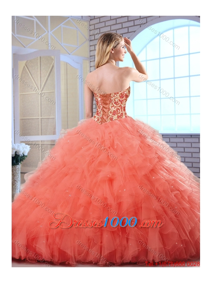 Perfect Sweetheart Quinceanera Gowns with Beading and Ruffles
