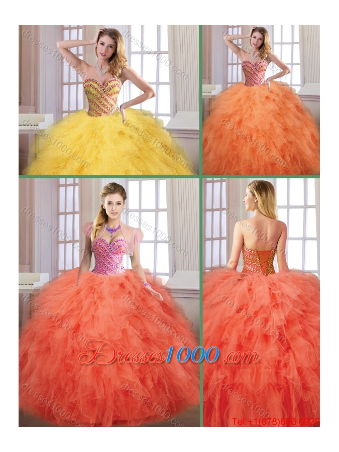 New Arrivals Fall Sweetheart Quinceanera Dresses with Floor Length