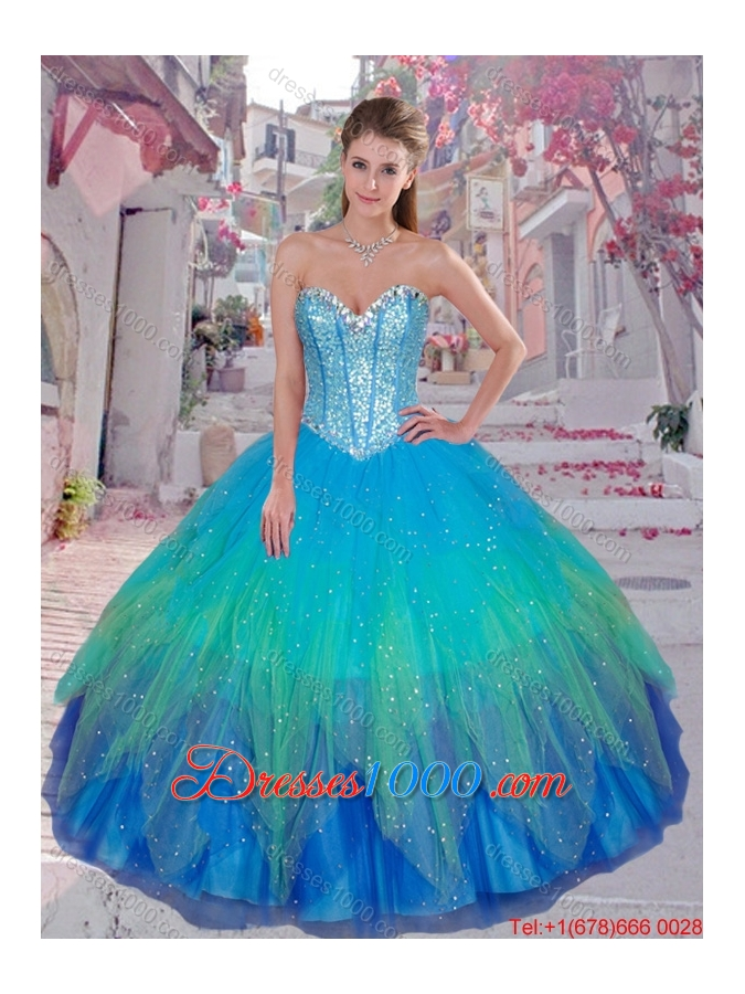 Pretty Sweetheart Sequined Quinceanera Gowns in Multi Color