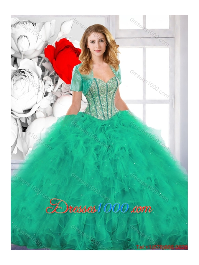 New Arrivals Beading and Ruffles Quinceanera Gowns