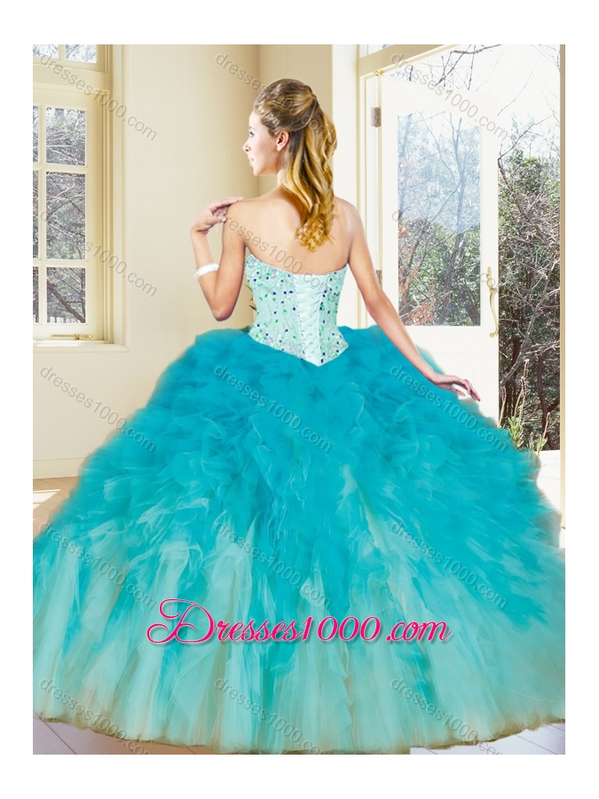 Latest Multi Color Quinceanera Dresses with Beading and Ruffles