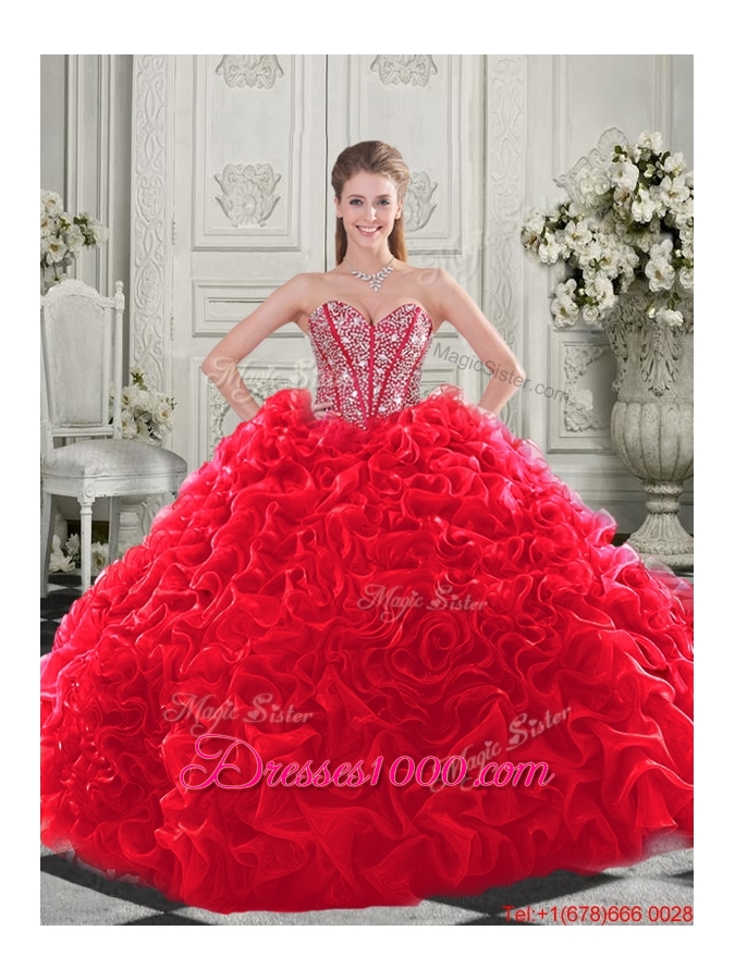 Pretty Puffy Skirt Visible Boning Apple Green SweetDesigner Quinceanera Dress with Beading and Ruffles