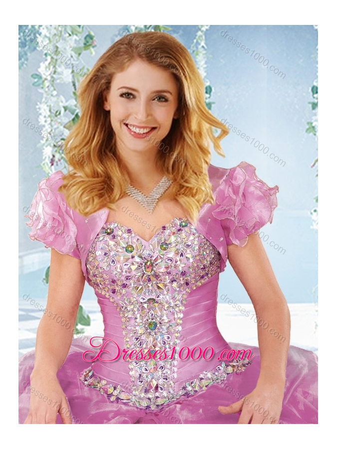 New Arrivals Rhinestoned and Ruffled Detachable Quinceanera Dress in Organza