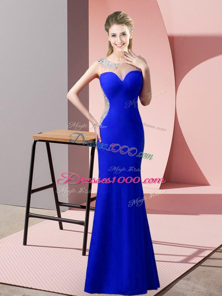 Sleeveless Zipper Floor Length Beading and Pick Ups Prom Party Dress