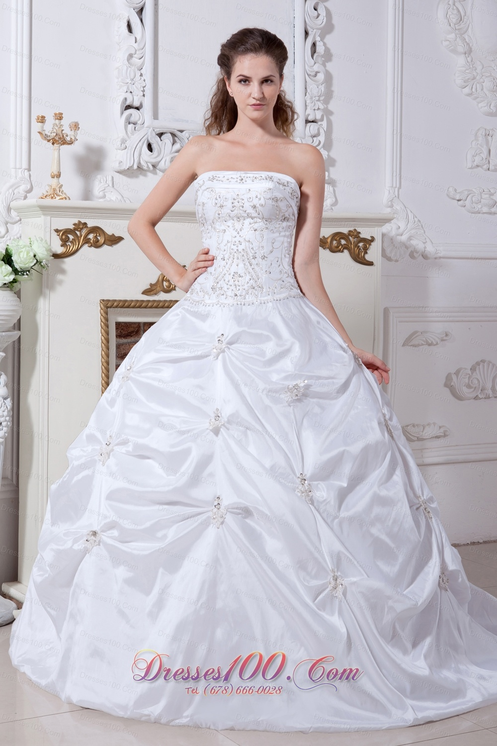 White Witer Ball Gown Wedding Dress Embroidery Pick-ups |Top Selling ...