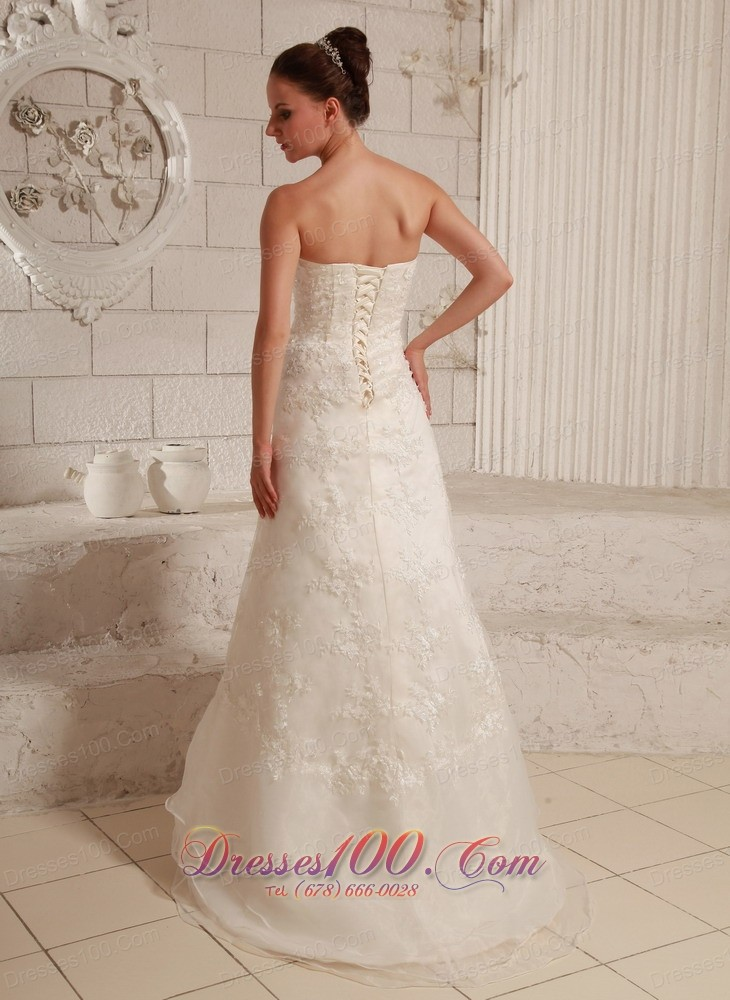 sweetheart lace wedding dress asymmetrical hemline custom
