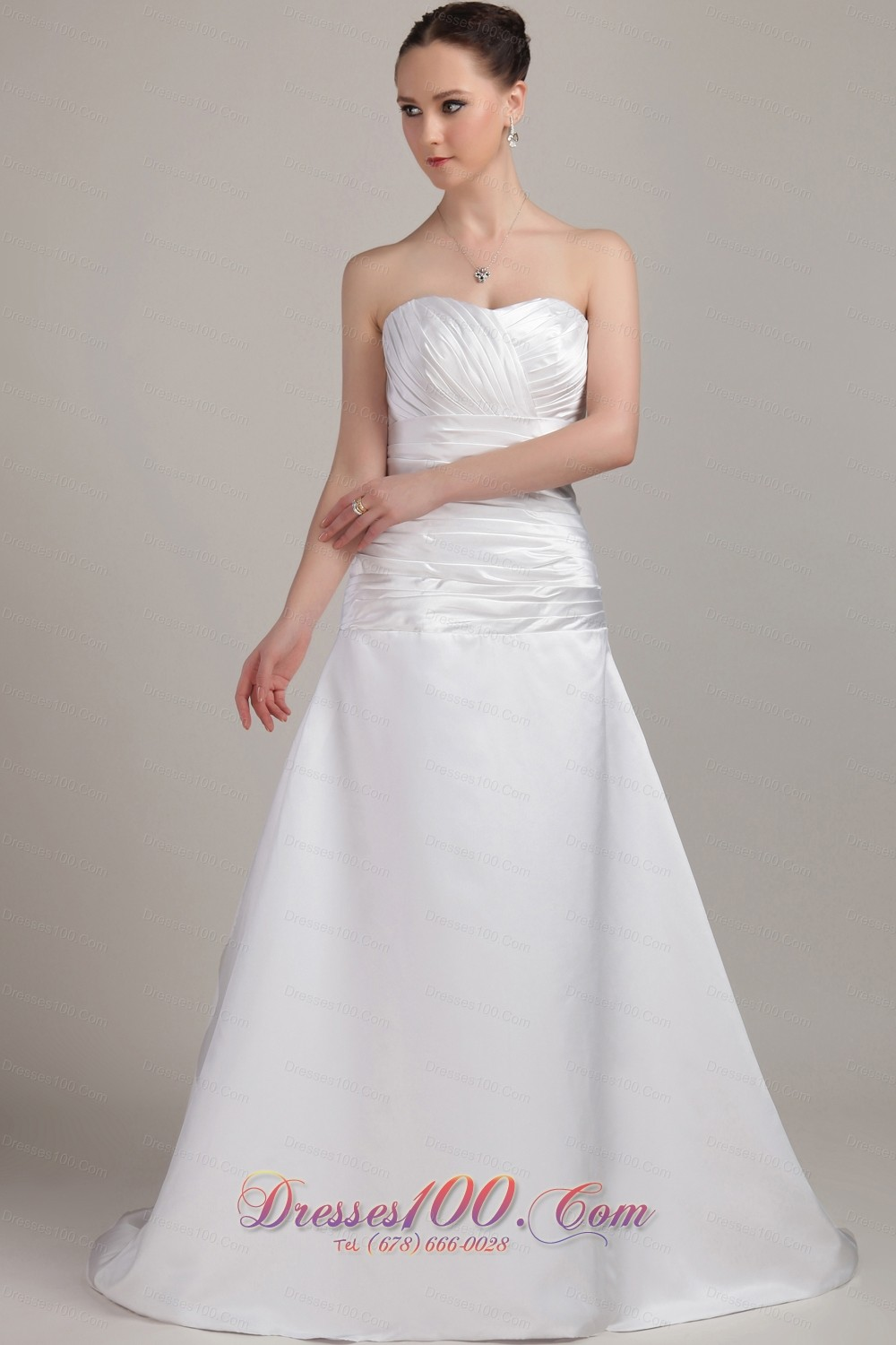 Romantic princess wedding bridal dress ruch taffeta ruch for Cheap and beautiful wedding dresses