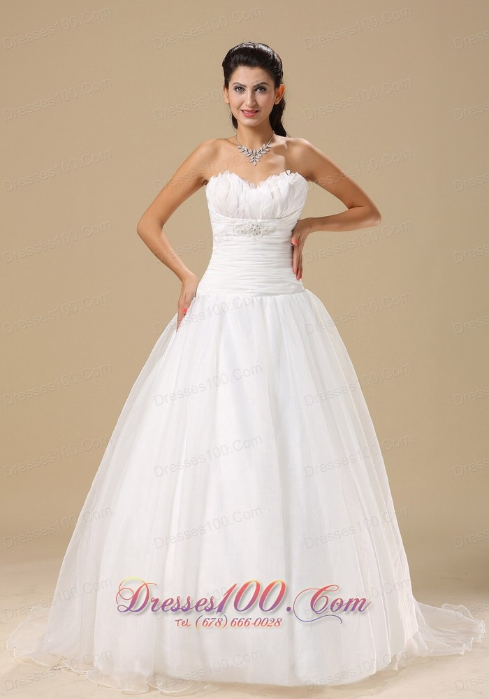 Sweetheart Wrapped Bodice Wedding Bridal Gowns Court |Top Selling ...