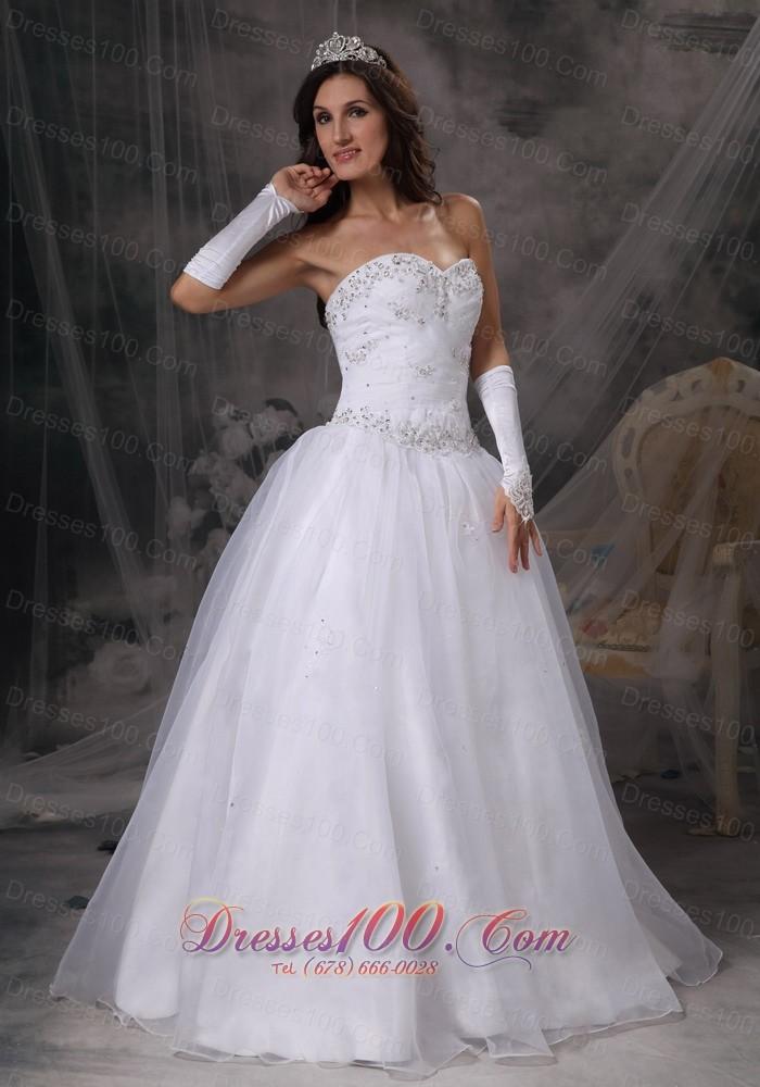 Hand made beaded organza sweetheart wedding dress top for Hand beaded wedding dresses