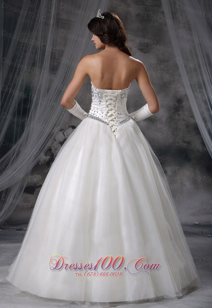 Ball gown beaded wedding dress with gloves new style for Wedding dresses with gloves