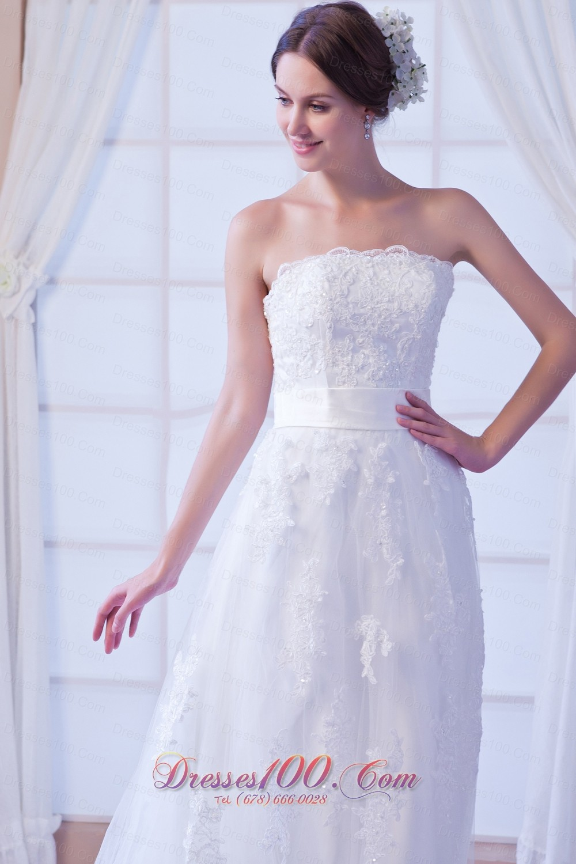 Princess Lace Sash Wedding Dress Bridal For Guest