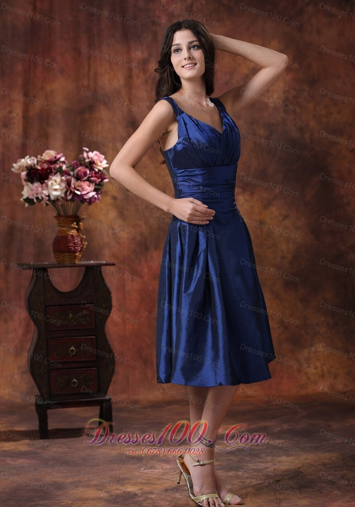 Wedding Dresses Yuma Az : Royal blue straps dress for bridesmaid custom color