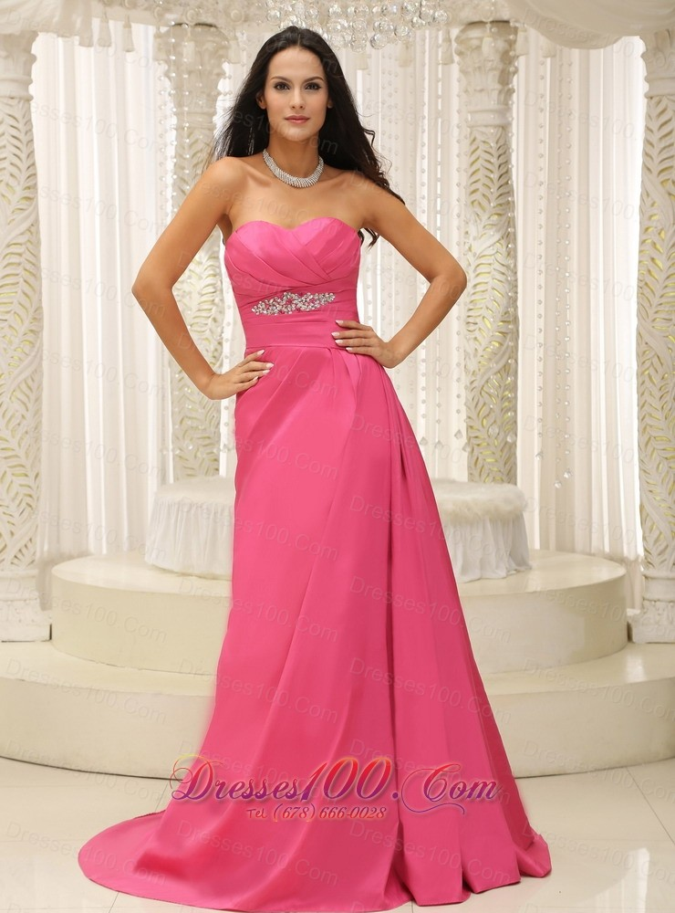 Rose Pink Bridesmaid Dress for Wedding Appliques |Prom Dresses on Sale