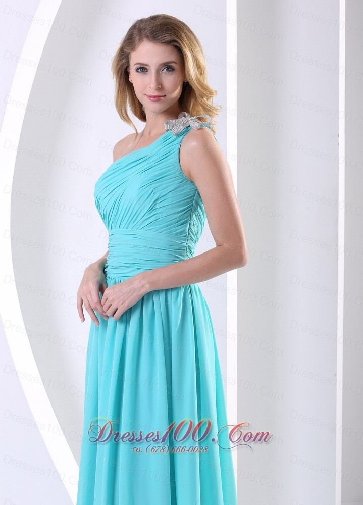 one shoulder bridesmaid dresses blue
