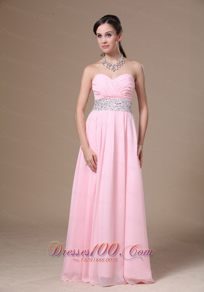 Beaded Chiffon Pink Empire Prom Graduation Dress 2013 |Discount Prom ...