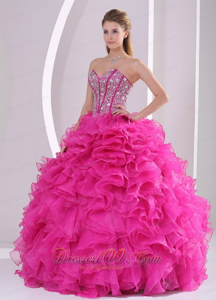 Sweetheart Rhinestone Decorate Uo Bodice Quinceanera Dress