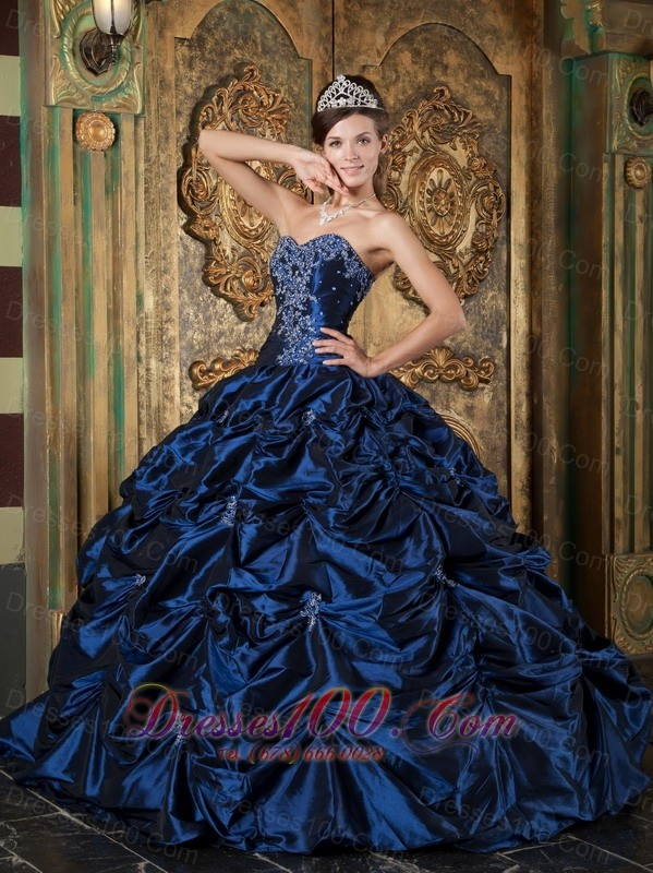 Sweetheart Pick-ups Beading Dress for Quinceanera