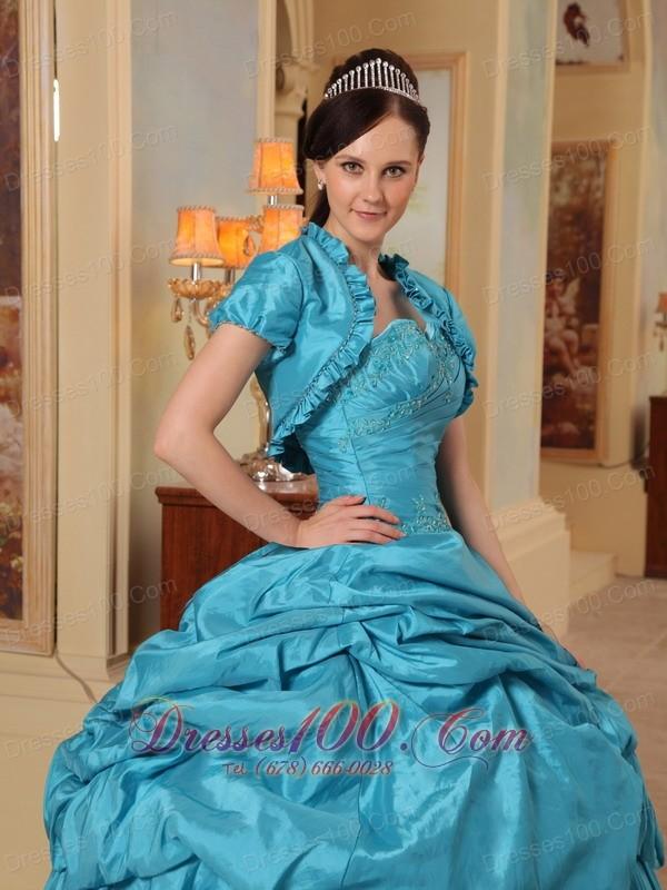 Unique Quinceanera Dress Pick-ups Teal Sweetheart