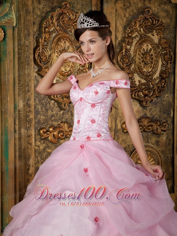 Pink Sweet 16 Dress Off the Shoulder Quinceanera