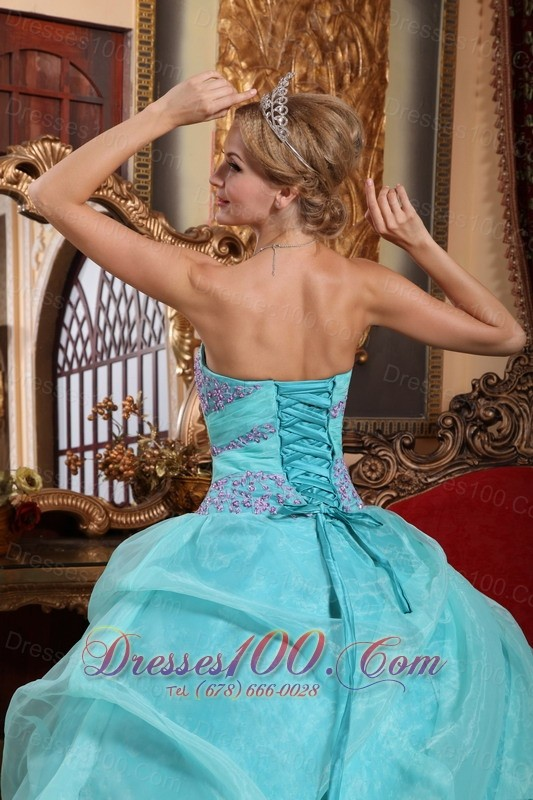 Sweetheart Quinceanera Dress in Apple Green 2013