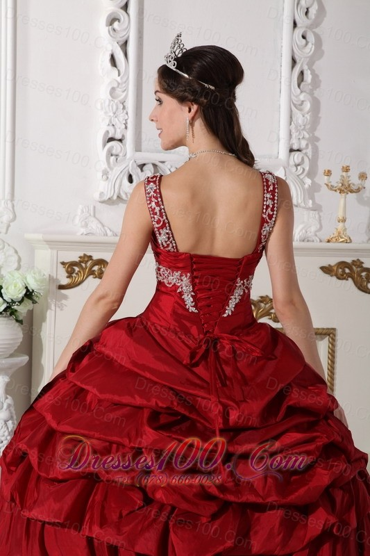Wine Red Scoop Quinceanera Dress Under 200 Beading