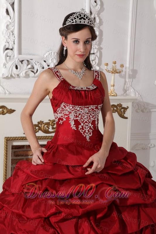 Wine Red Scoop Quinceanera Dress Under 200 Beading