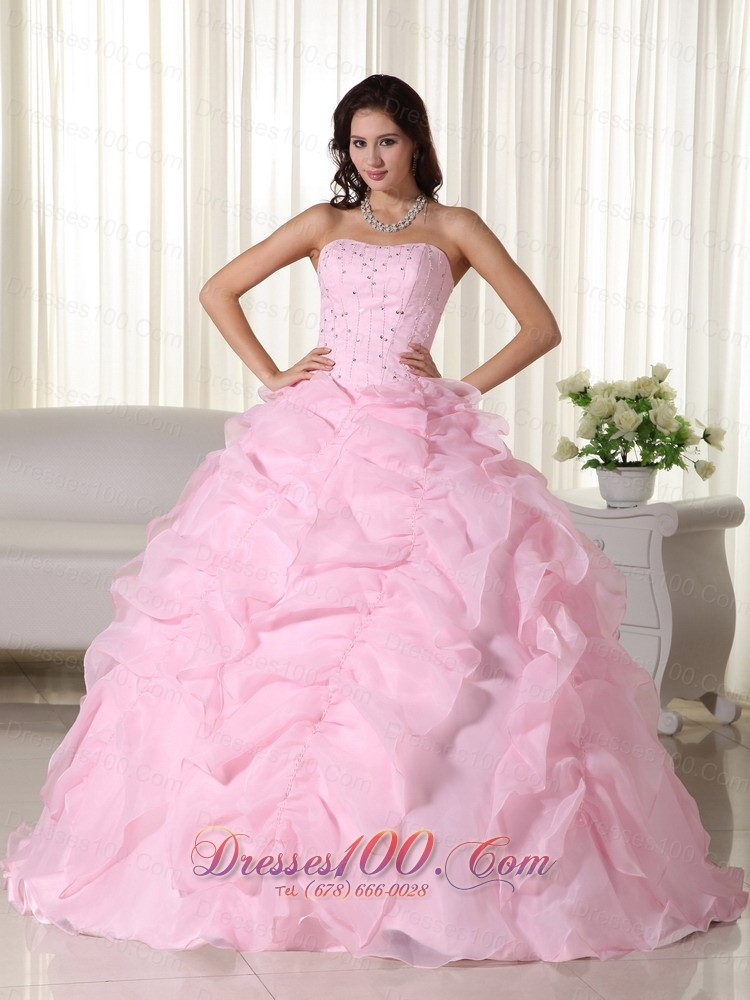 Quinceanera Dresses Pink And White Puffy White And Pink ...