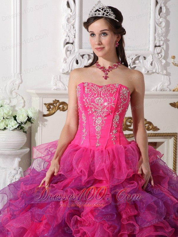 Coloful Beading Decorate Quincenera Dresses Best Seller