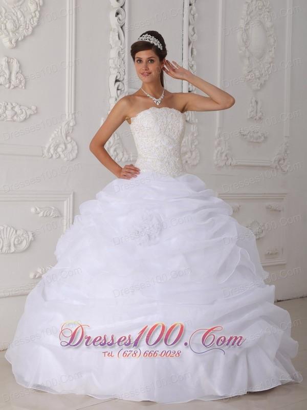 Princess White Quinceanera Dress Strapless Ball Gown |Vestidos de ...