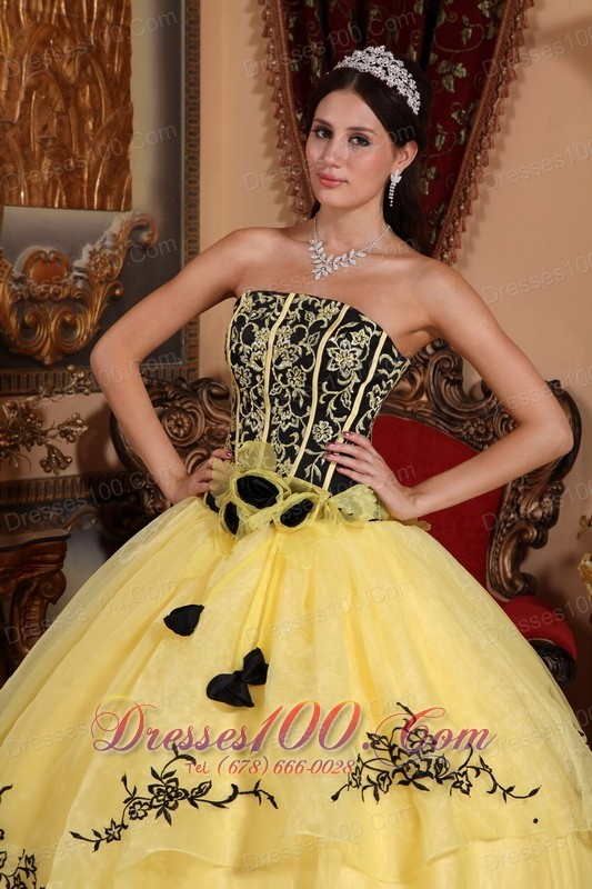 Black and yellow spring dresses
