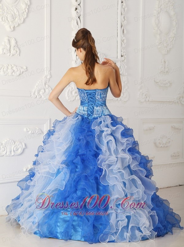 Quinceanera Dress Princess Sweetheart Beading Ruffles