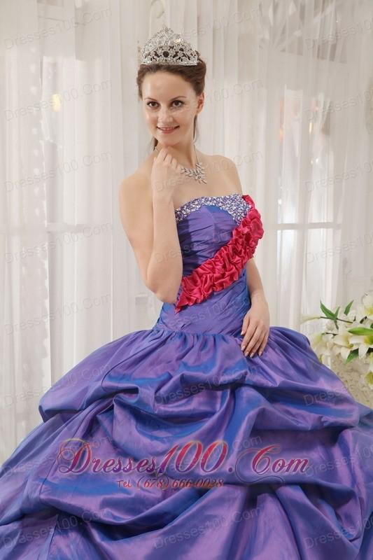 Exclusive Quinceanera Dress Taffeta Zebra Strapless Beading