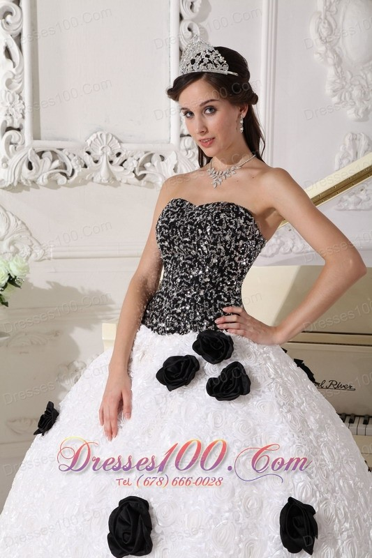 Discount Special Quinceanera Dress Strapless Floral Sequins