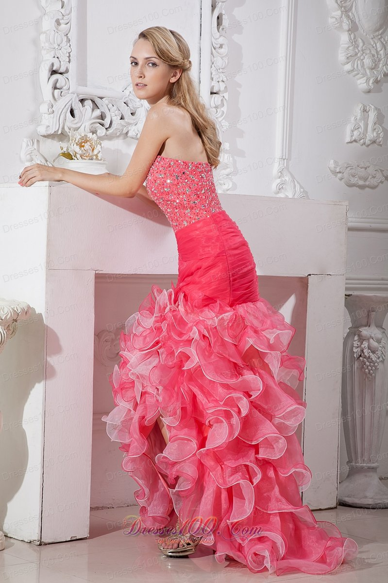 For High Low Ruffle Mermaid Prom Dresses – Fashion dresses