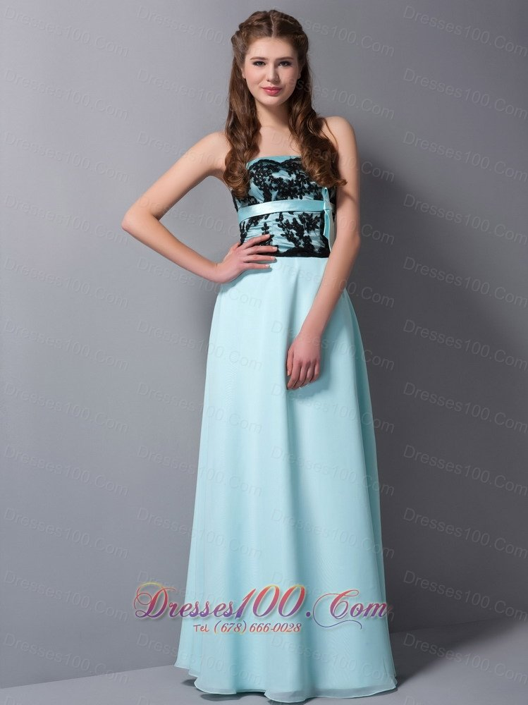 ... Prom Dresses, Light Cyan Column Balck Lace Long Prom Graduation Dress