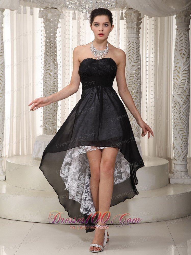 High low black dress cheap
