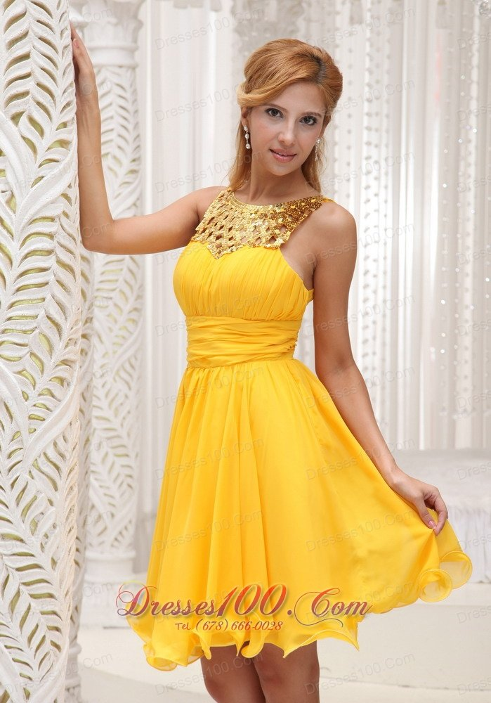 Yellow Cocktail Dresses Cheap 7