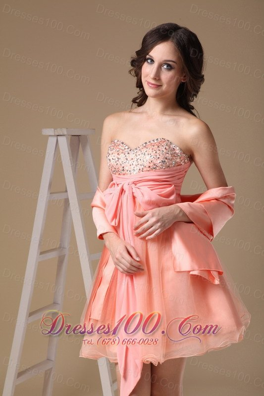 a2cb0cacb6fc ... Matching Shawl Beaded Bust Bow Prom Homecoming Dress ...